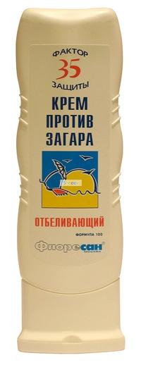 крем против загара отбеливающий spf-35 флоресан