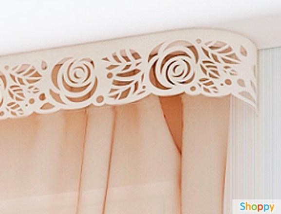 Декор карниза тканью