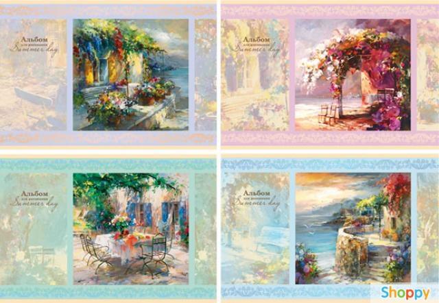 Набор цветного мелов. картона ACTION БУМАЖКИ ф. А4,16 л.,8 цв. 2 дизайна