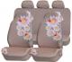 """Универсальные чехлы на сидения  """"Romashka """" бежевые, полиэстер.  Накидка на сидение из натурального комбинированного..."""