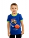 Футболка для мальчика  Тачки синяя