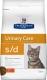Сухой корм для кошек при лечении мочекаменной болезни Hills Prescription Diet S/D Urinary Care c курицей, 400 г